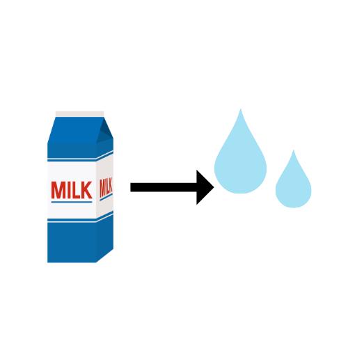 成分調整牛乳のイラスト