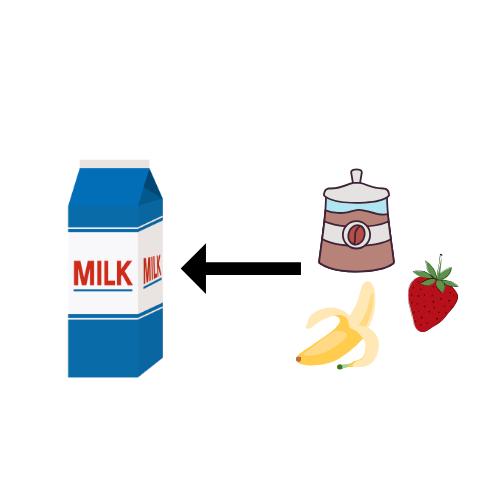 乳飲料のイラスト