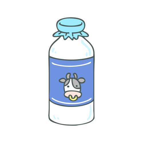牛乳瓶のイラスト