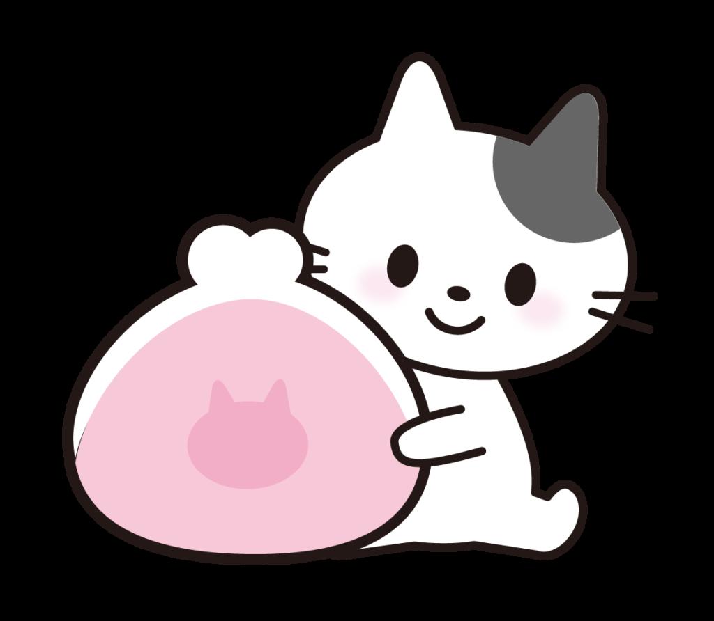 お財布を持っている猫のイラスト