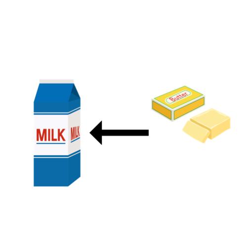 加工乳のイラスト