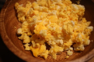 油不使用!レンジで作る簡単ふわふわ炒り卵