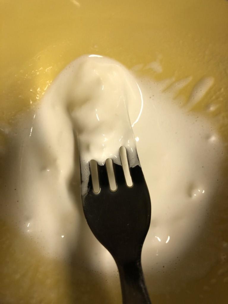 マシュマロクリームを作っている画像