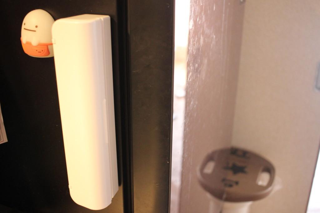 セリアのラップケースを冷蔵庫で使っている写真