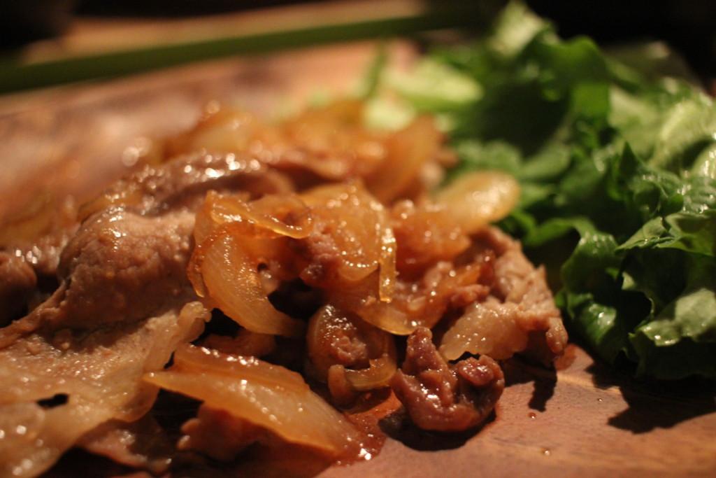 完成した生姜焼きの画像