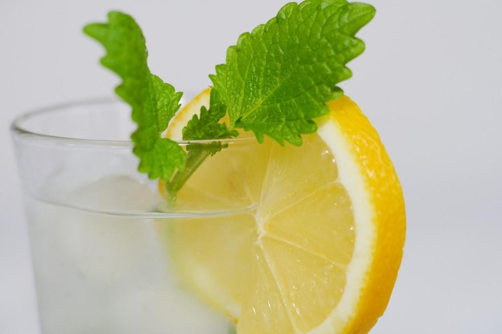 レモンバームとレモン水の画像