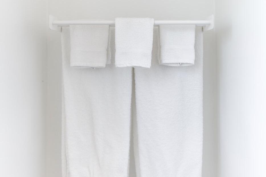 タオルを干している画像