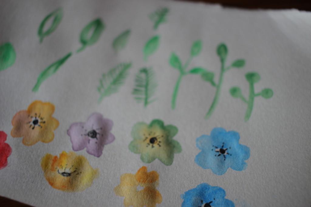 MIROOM(ミルーム)のレッスンで描いた花の画像