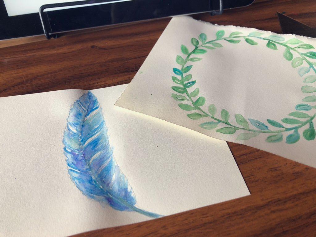 miroomで習った水彩画のイラスト