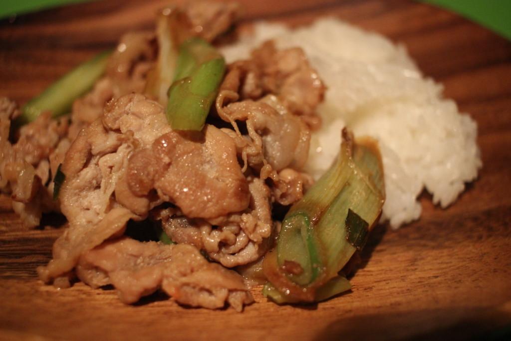 ミルームで作った生姜焼きの画像