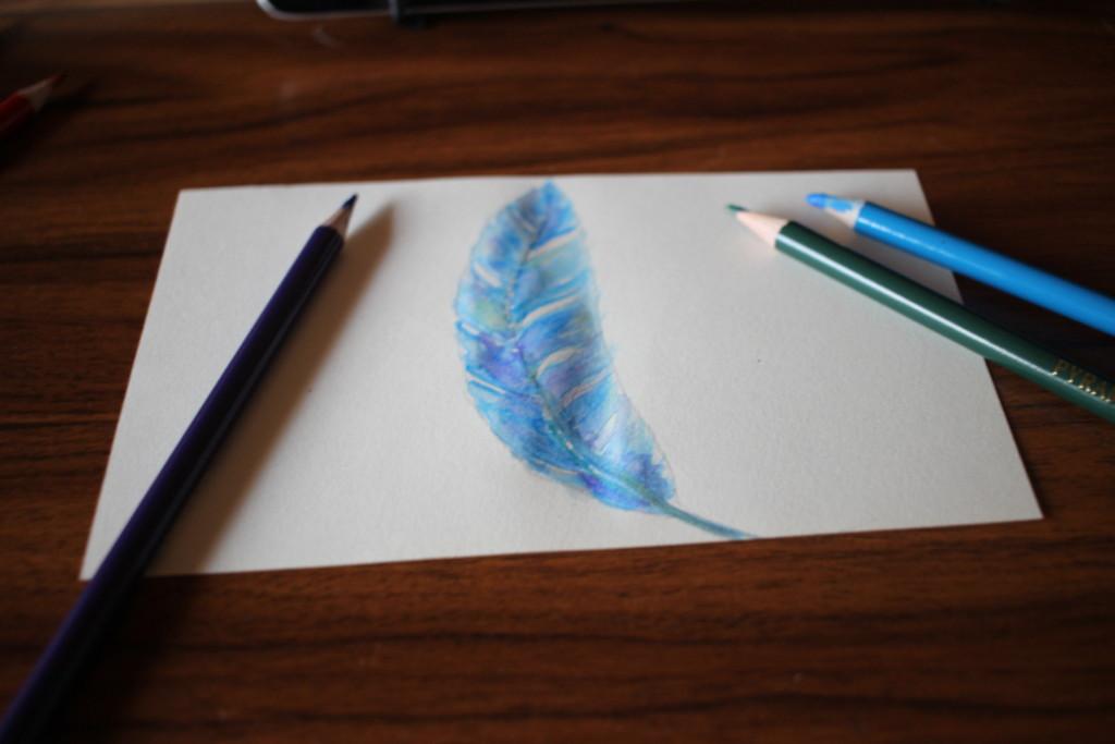MIROOM(ミルーム)のレッスンで描いた羽の画像