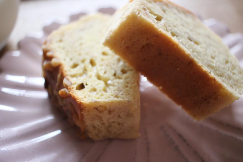 完成したノンバターバナナパウンドケーキの画像
