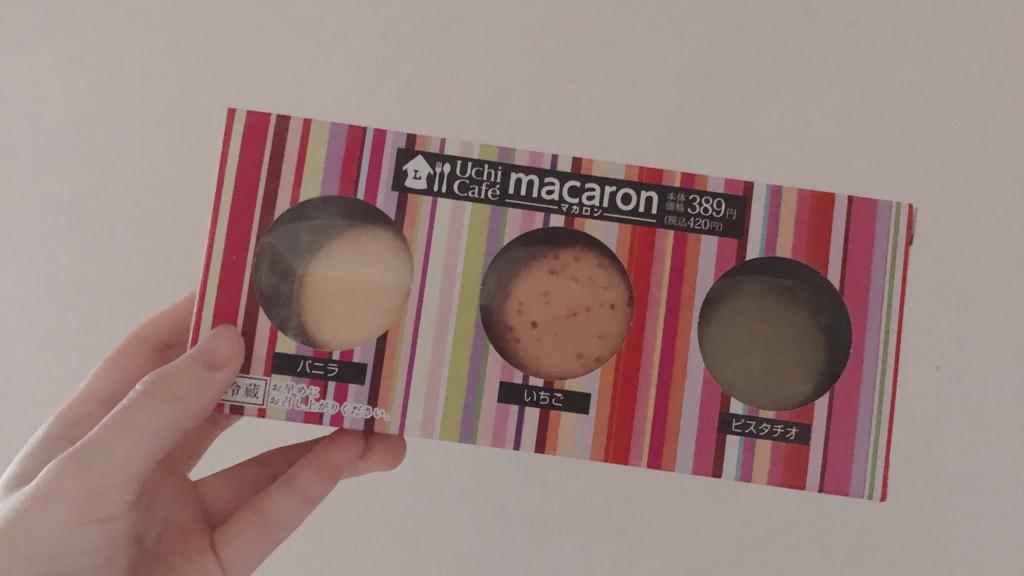 ローソンで購入できるマカロン3個入りの画像