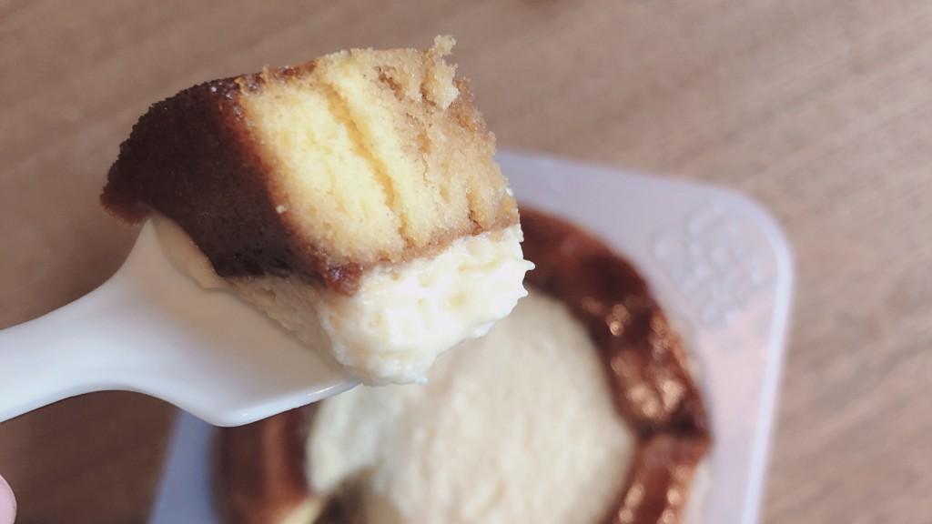 ローソンのシャリトロール-ブリュレロールケーキの味