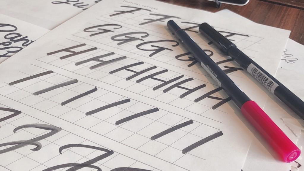 MIROOM(ミルーム)から届いたレタリングシートで練習した大文字