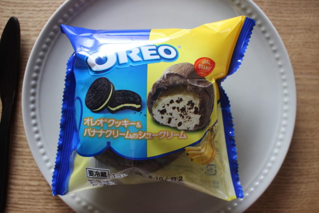 オレオバナナシュークリームのパッケージ