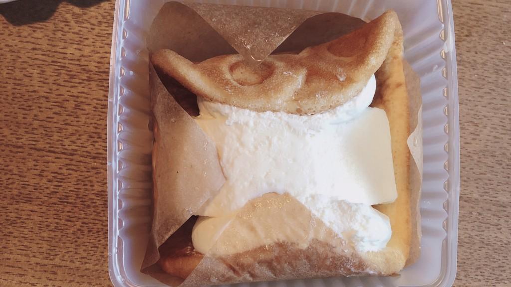ふんわりワッフルレアチーズの中身