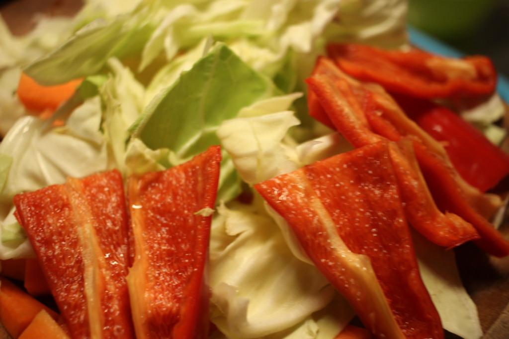 松尾ジンギスカンと一緒に焼いたお野菜