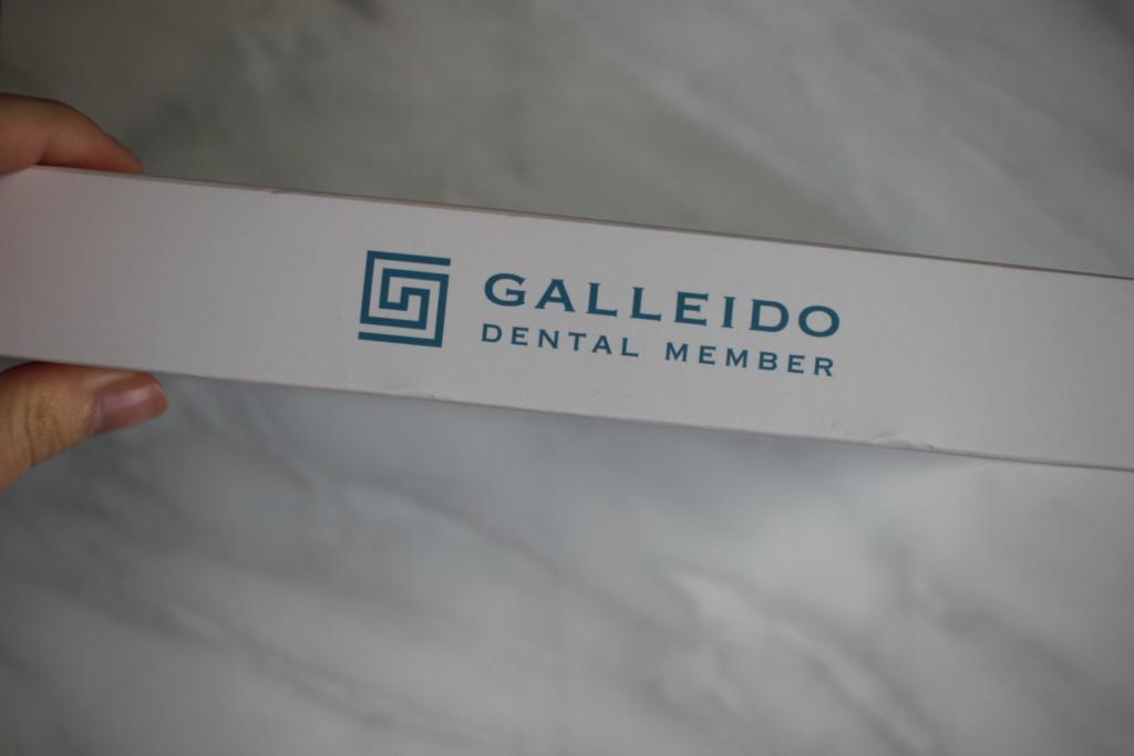 ガレイドデンタルメンバーから届いた、新しい電動歯ブラシ本体が入っている箱