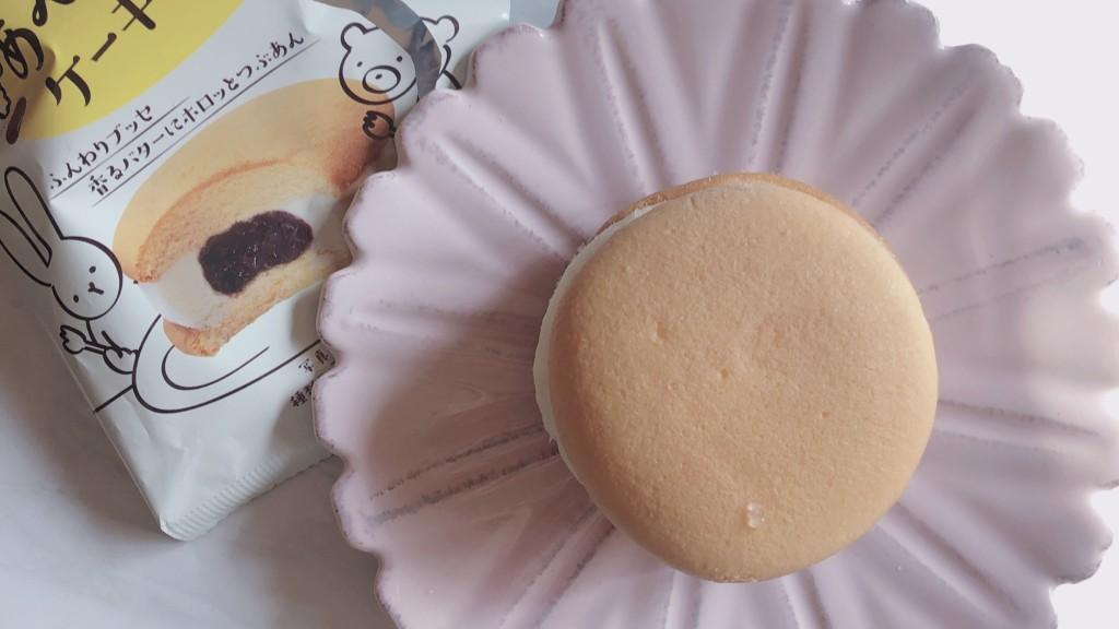 【ローソン】あんこバターケーキサンドの見た目