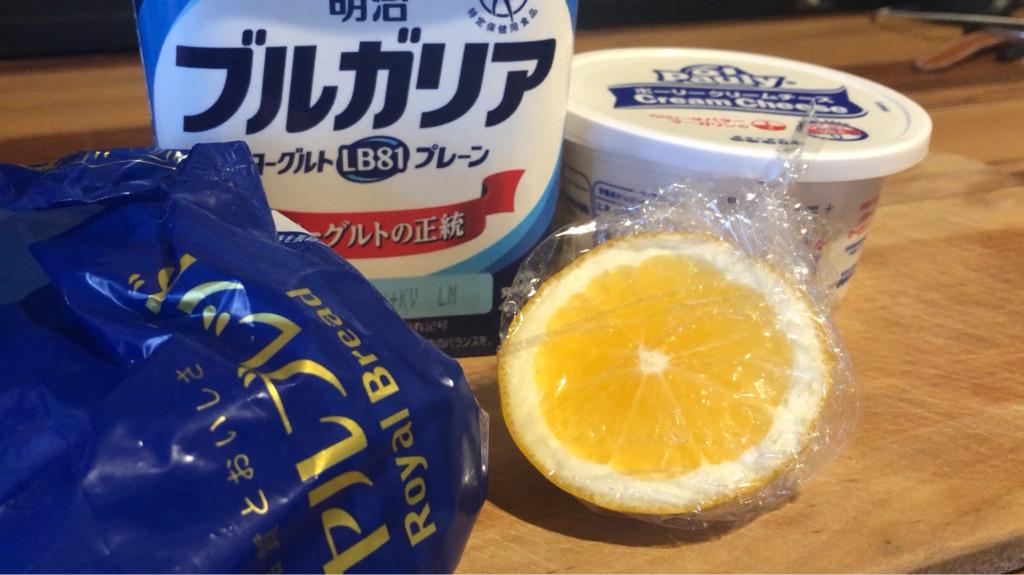クリームチーズを使った「爽やかレモンチーズケーキ食パン」の材料