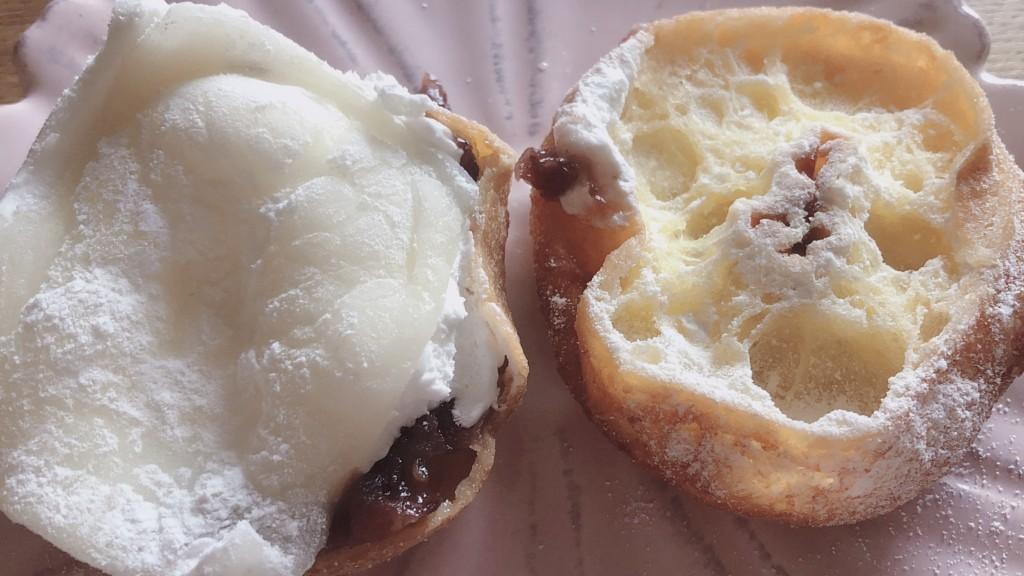 ローソンで購入できるもちふわリングドーナツあんバターの中身
