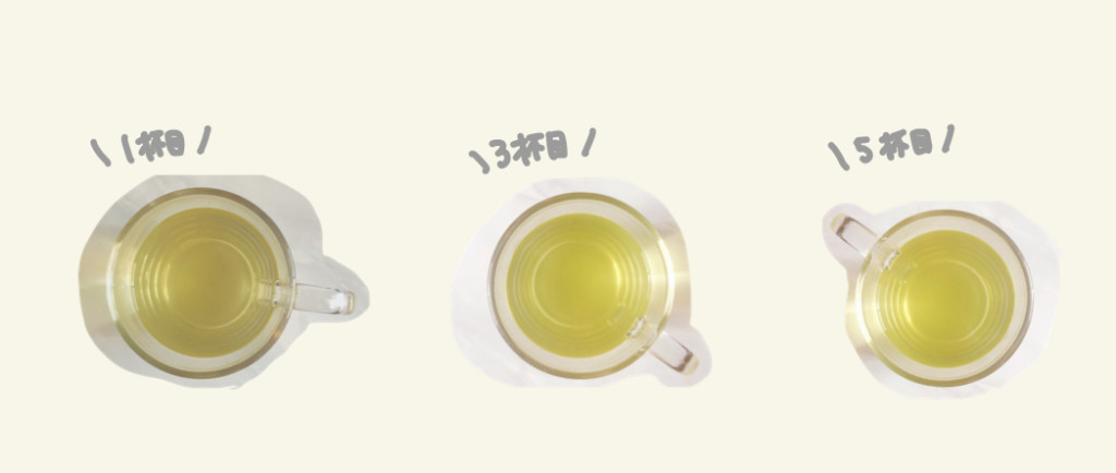 Drip Teaは繰り返し淹れても美味しいの?実際に5煎目まで飲んでみた!