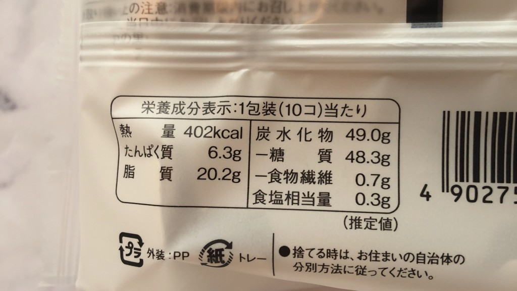 ローソンのプチ生バウムクーヘンのカロリーと価格