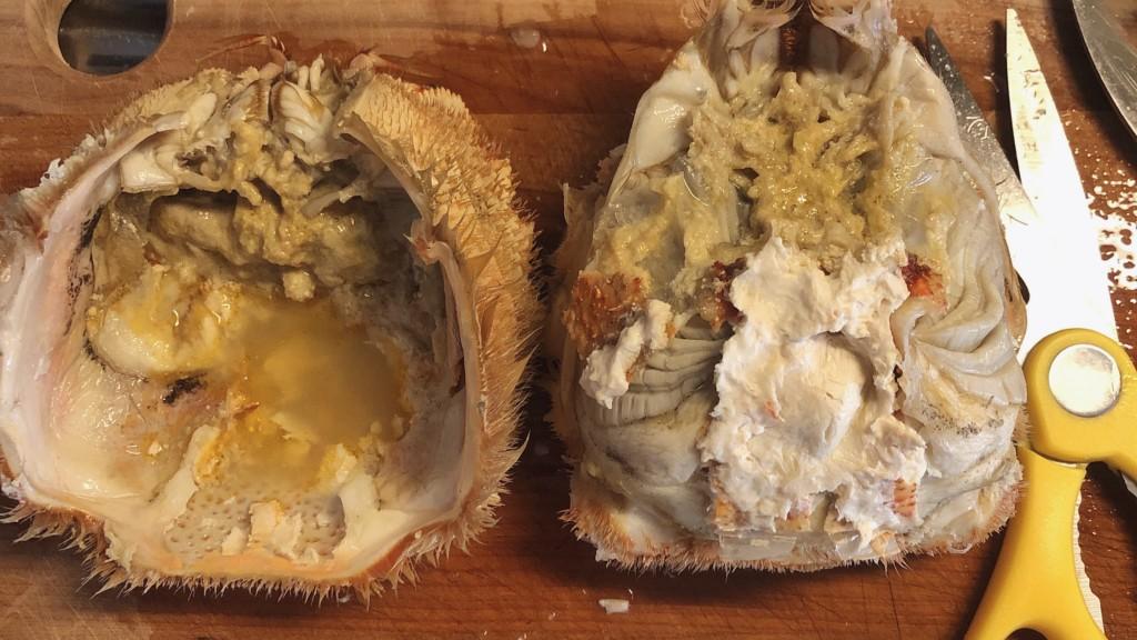 カニ味噌チーズ甲羅焼きの材料