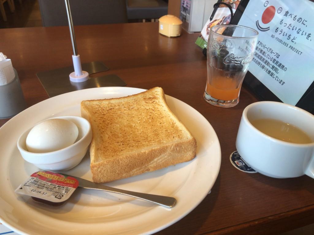 ガストのモーニングセット「トースト&ゆで卵」はコスパ抜群!