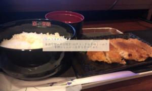 自遊空間の平日限定100円ランチは美味しいの?とんかつ定食を食べてみた