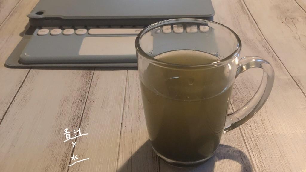 飲み方③ ドクターベジフル青汁×水