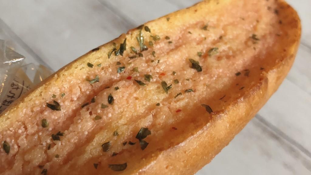 ローソンで購入できる、もち麦のめんたいトーストの見た目